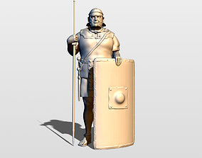 Roman legionary with pilum 3D print model
