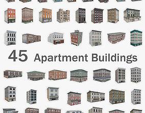 3D asset 45 Apartment Building Collection
