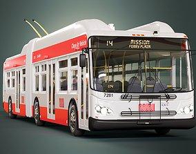 San Francisco Trolleybus SFMTA MUNI 3D