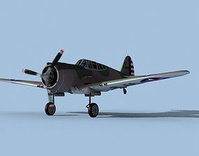 Curtiss P-36C Hawk V07 USAAF 3D model