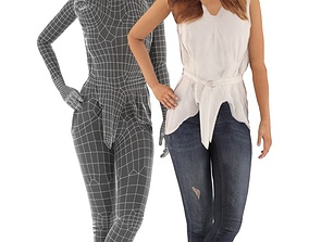 Sophia 003 Animated Idling Casual Woman 3D asset