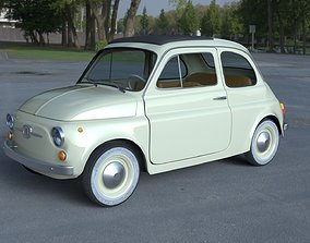 Fiat 500D Nuova 1960 with interior HDRI 3D