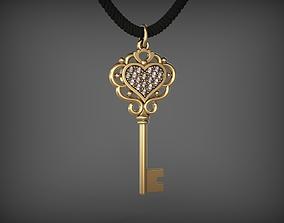 keys Pendant Key 8 STL 3D print model