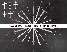 Medieval Swords Daggers and Knives Pack 3D