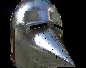 Hounskull Bascinet helmet 3D asset