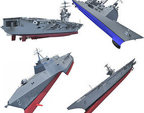 US Navy Ships 3D Models V8