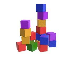 3D Colored cubes