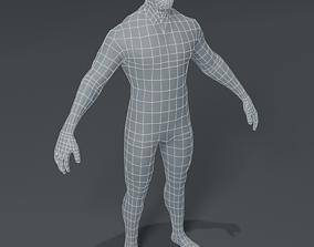 low-poly Male Body Base Mesh 3D Model