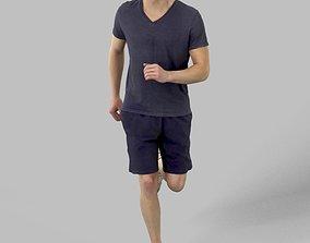 Vince Sportswear Casual Man Running playing 3D asset 2
