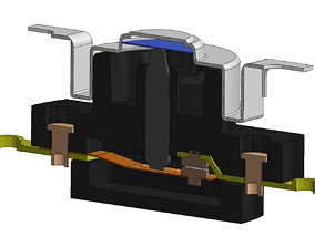 3D Immersion Thermostat with cap for geyser Assembly and