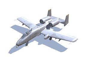 3D asset A-10 Thunderbolt Jet Fighter Aircraft