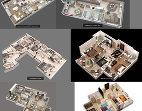 concept 3D model floorplans collection