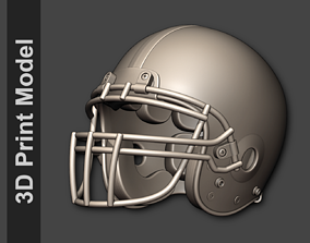 Classic 80s-2010s Football Helmet 3D printable model