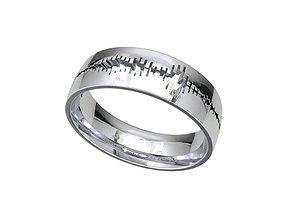 Men Wedding Band Heart Bit Wave Model- CC93 wedding-ring