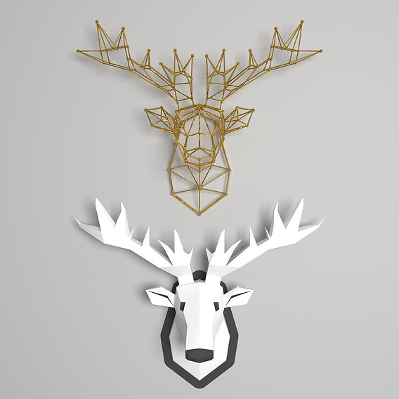 moose head - wal-mounted