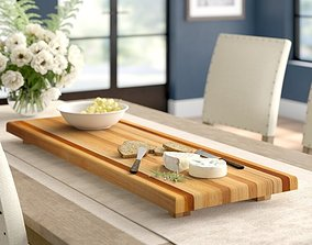 3D model Dangelo Large Cheese Board - 2 Colour