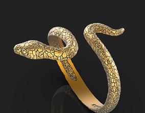 diamond-ring animal 3D print model snake ring