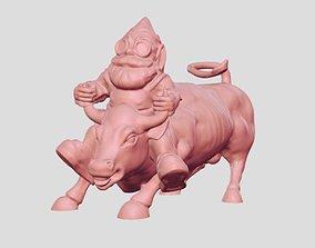Gnome rider 3D printable model sculptures