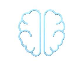 Brain Symbol v3 002 3D asset