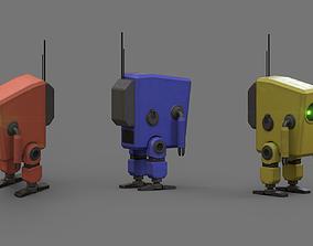 Small robot 3D asset realtime
