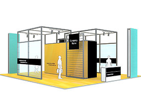 Exhibition Stand - ST004 3D model