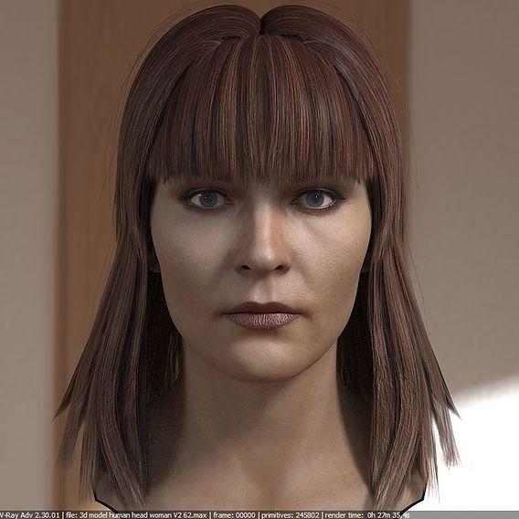 Making photorealistic woman's head test