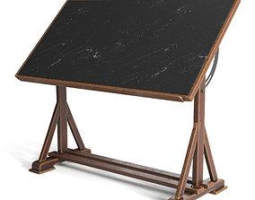 school 3D model Drafting Table with Blackboard