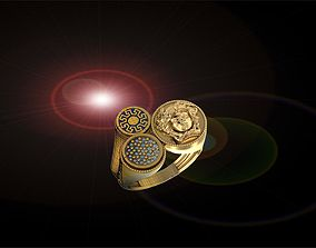versace ring jewelry designer 3D printable model