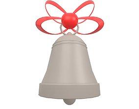 3D asset Christmas Bell v1 004