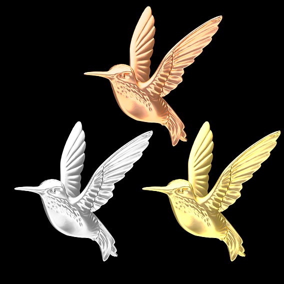 Hummingbird Gold 3D Model 3D print model