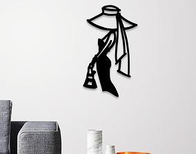 3D print model Elegant Lady wall decoration