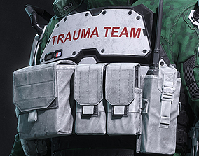 Cyberpunk 2077 - Trauma Team - Chest Armor 3D print model