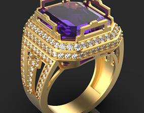 3D printable model Emerald ring jewel