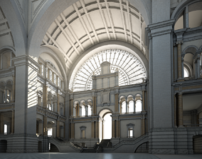 3D Great Hall mansion