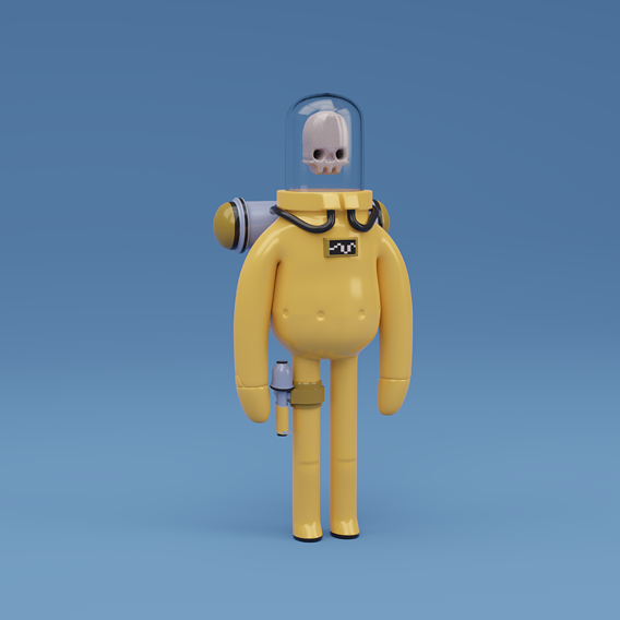 Astronaut character skeleton space