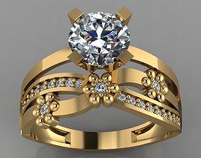 GC GOLD TW043- Diamond ring 3D print model