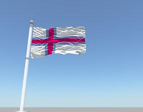 3D model Faroe Islands flag