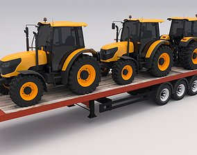 Trailer with Tractors 3D