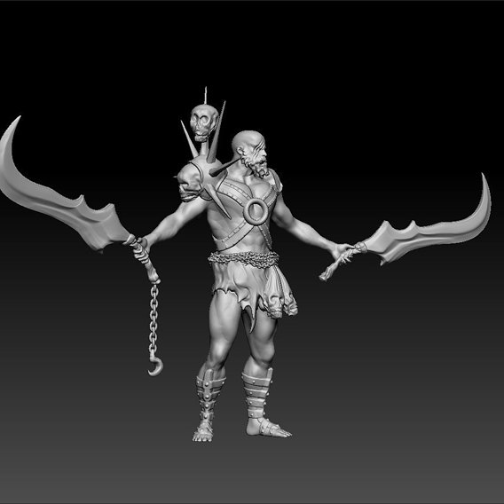 Barbarian Champion Printable Figurine