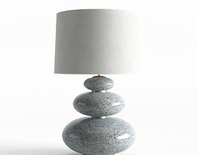 Lamp With Granit Base 3D model
