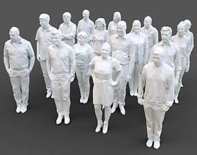 3D asset 16 Stylized Human Statues Pack V11