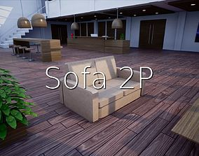 3D model Sofa 2p SHC Quick OfficeLM