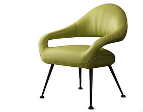 Poltrona Frau Italia Letizia armchair 3D
