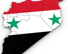 3d Political Map of Syria assad
