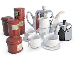 Tableware Salam Tea Set 3D model