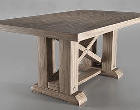 Minimalistic Wood Table 3D model