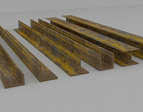 3D model Steel Beam Sets