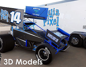 3D Model of a Sprint Car by Media Pixel