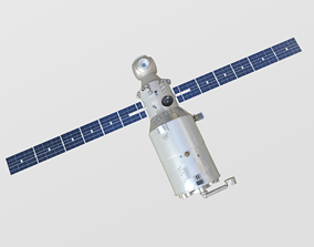 3D model Zvedza Service Module on ISS