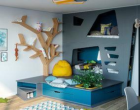 3D Children Bedroom Cubbyhole